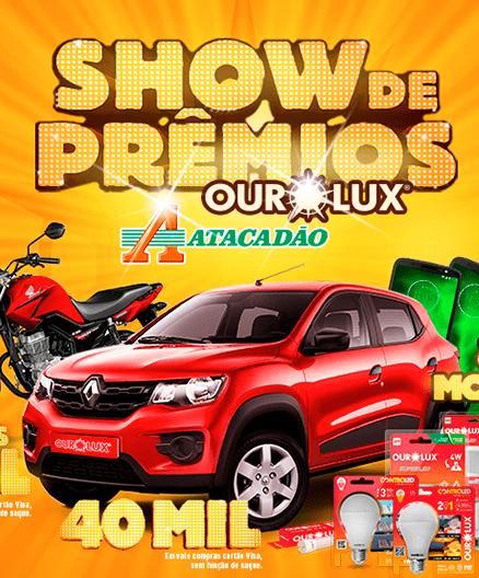 Site Promoção Show de Prêmios Ourolux