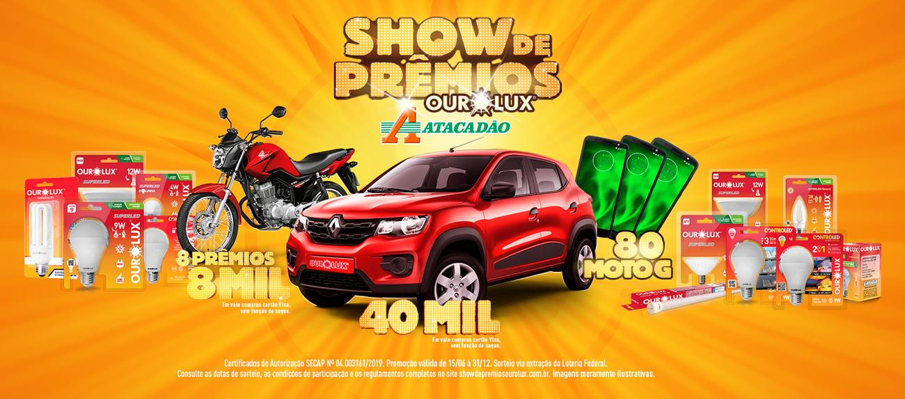 Promoção Show de Prêmios Ourolux e Atacadão