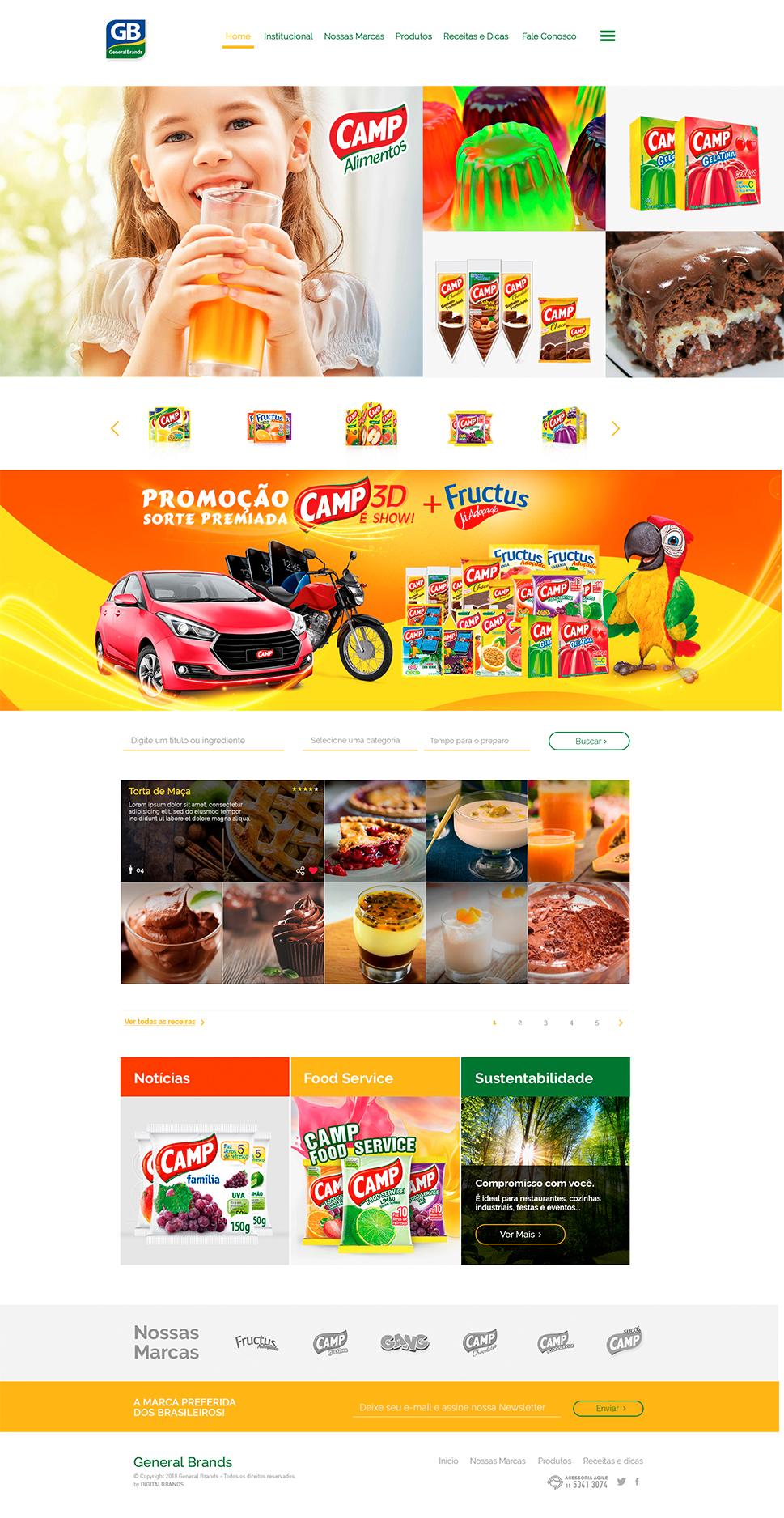 Criação e Desenvolvomento do Site General Brands