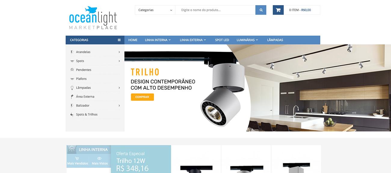 Criação e Desenvolvimento do E-commerce Ocean Light