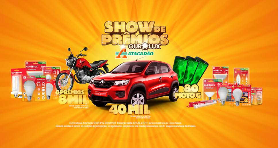Promoção Ourolux Show de Prêmios